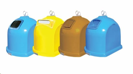 Waste bins capacity of 1.3m3 and 1.5m3