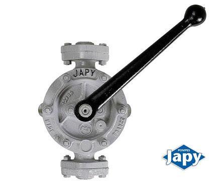 Unlined manual semi-rotary pump