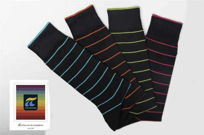 Men's socks with light pinstripe