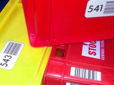 Barcodes für Normbehälter