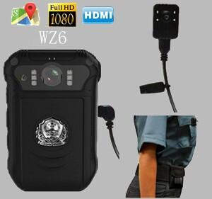 Dual lens and GPS body worn cameras professional for police and public security