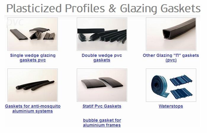 Plasticized Profiles Glazing Gaskets PVC