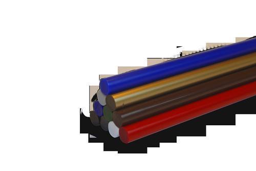 Coloured glue sticks