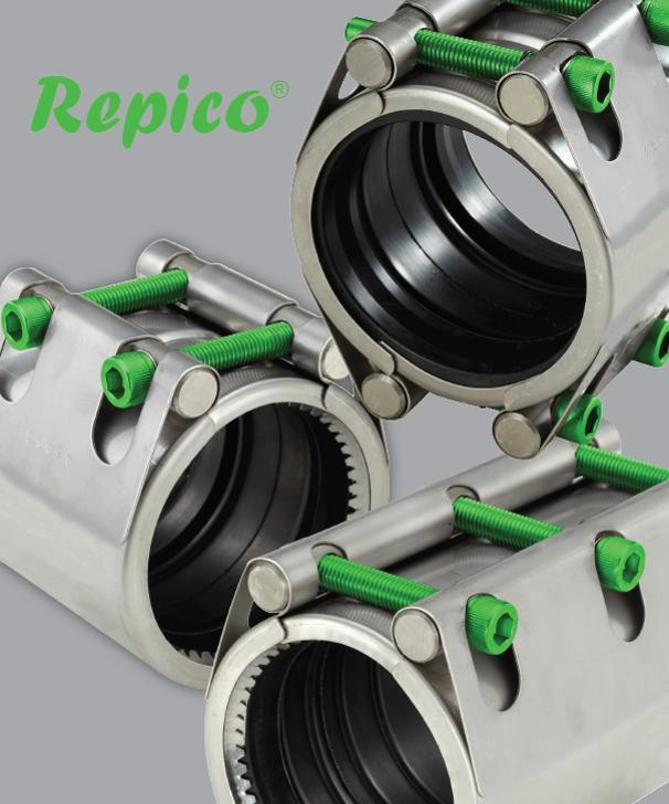 Repico (non) restraint pipe couplings & repair clamps