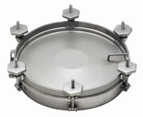 Round external manlids DN500 or 600mm