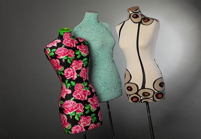 Flowered mannequins