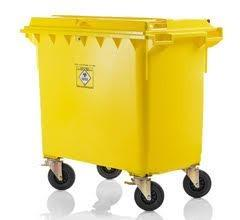 Mobile dustbins, wheeled bins for clinical waste 660, 770, 1100 litre