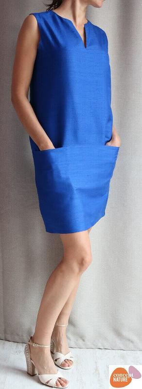 Handwoven silk dress