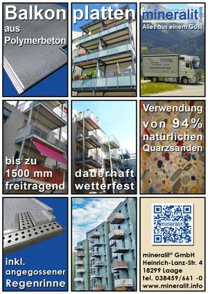 individuelle Balkonplatten