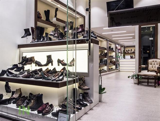 Renovation of shoe shops
