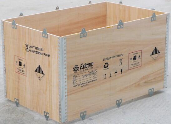 Plywood frame for no-nail box
