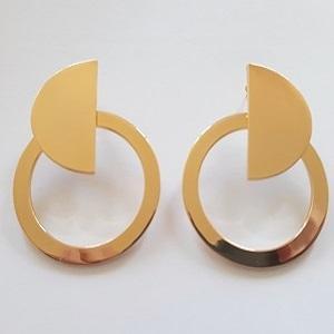 STEEL GOLD EARRINGS