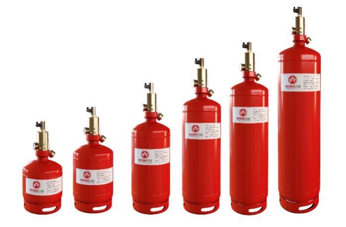 Gas fire extinguishing modules MGA-FS 65-XX-50