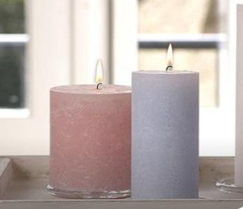 Rustik-Kerzen passen in jede Einrichtung