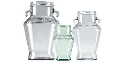 Botellas y tarros de vidrio