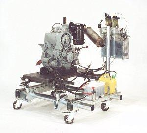 Mounting and preparation of engines for tests under load