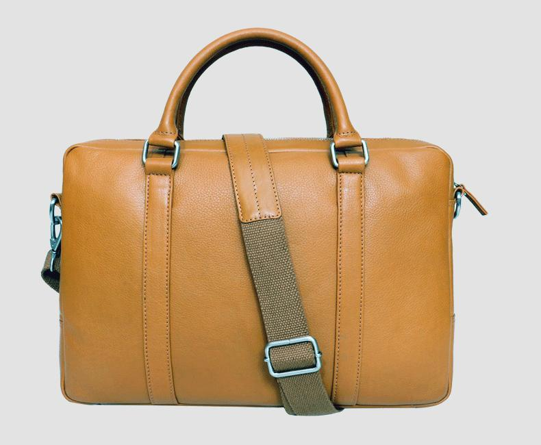 Sleek Leather Laptop Bag