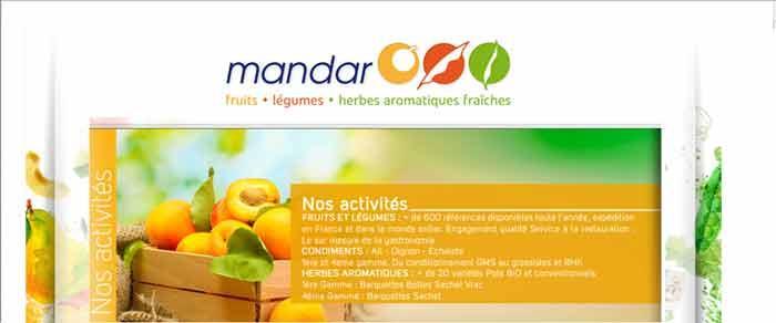 GROUPE MANDAR : SPECIALISTE  FRUITS ET LEGUMES ET HERBES AROMATIQUES FRAICHES