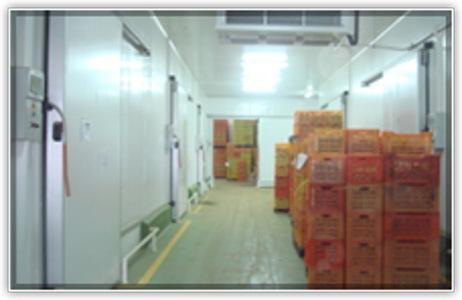 Couloir réfrigéré de station frigorifique