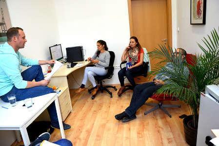 Recruitment team at work