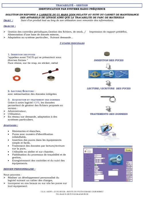Lifting - Traceability and RFID Tech.