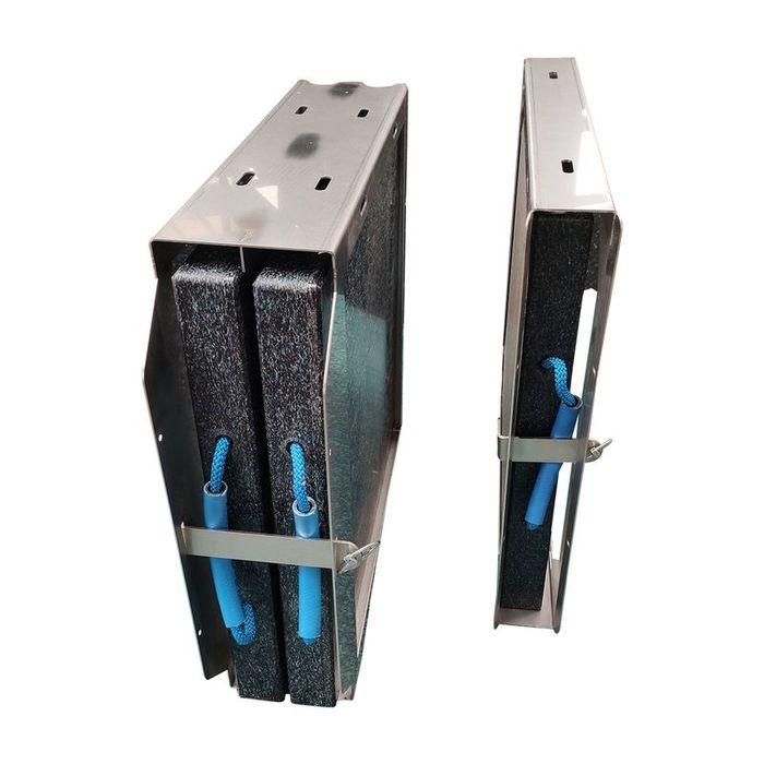 Outrigger pads as set with stainless steel holder
