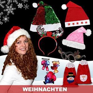 Christmas hats, Santa hats, Christmas costumes, Christmas decorations, Christmas