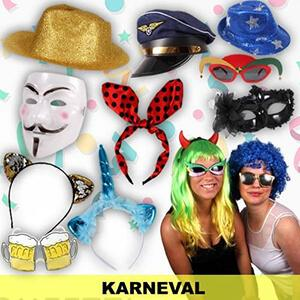 Carnival and carnival items, disguises and party items