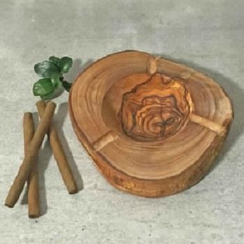 Cendrier en bois d'olivier