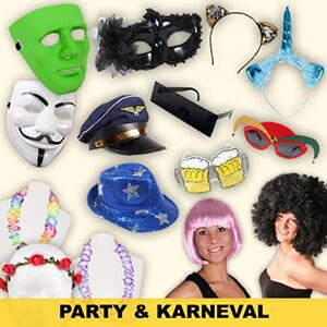 Party articles, celebration and fun articles in wholesale