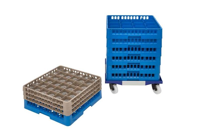 Professional dish racks, glass racks and cup racks Traex / Gastroplus. Easy to transport glass and flatware from or to the warewashing area. Conveniently clean organize, stack, and store after washing