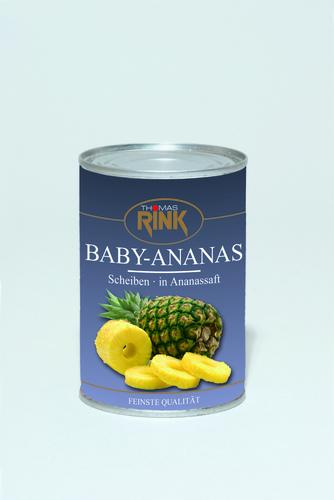 Baby-Ananas, 425 ml, in Ananassaft