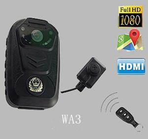 WA3 law enforcement police body cameras with GPS and dual lens