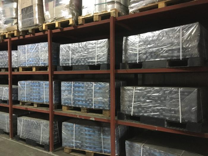 Storage system for finished products
