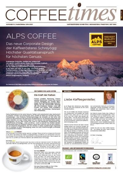 Hauszeitung Coffee Times  / 2 x pro Jahr