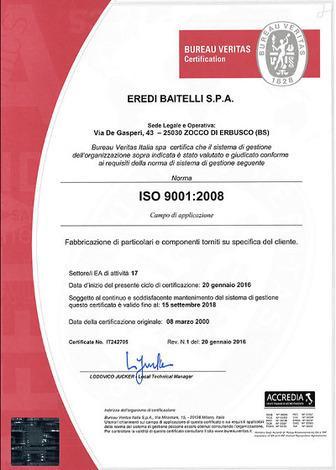 EREDI BAITELLI OHSAS 18001