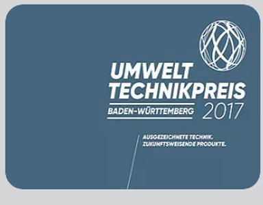 1. Platz im Umwelttechnikpreis von Baden-Wuerttemberg 2017