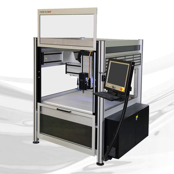 CNC milling machine for large travels with small space requirements!