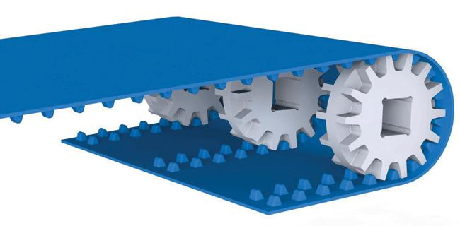 Positive drive conveyor belts