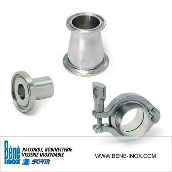Composants inox Serie CLAMP - Stainless steel components CLAMP standard