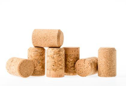 Champagne corks with natural cork disks