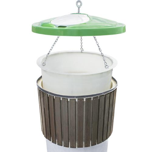 semi-underground waste & recycle containers