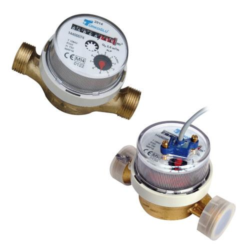 single jet dry dial domestic cold water meters