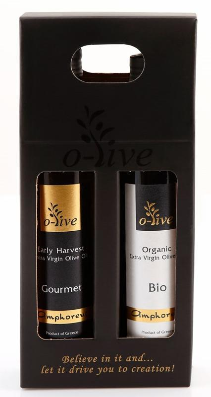 Olive oil packaged gift box