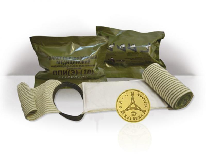 Пакет Перевязочный Индивидуальный с Эластичным бандажом ППИ-(Э)