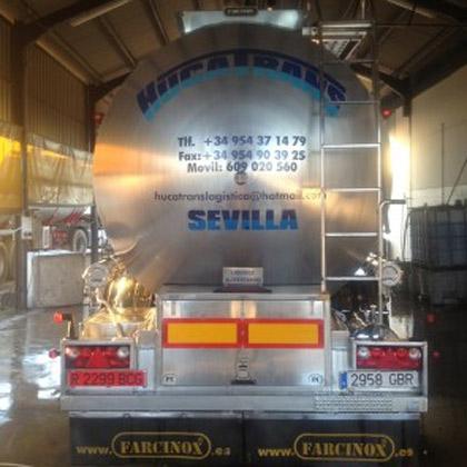Transportes en cisternas: líquidos alimentarios