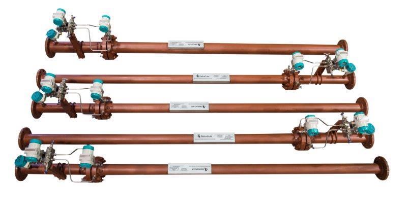 Integral flow metering system