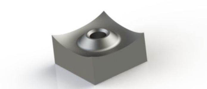Schneidkrone 40x40x20 mm für VECOPLAN® Shredder