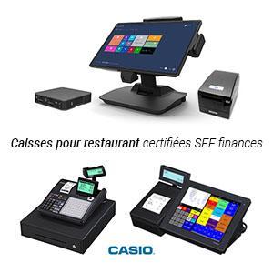 Caisses tactiles ou Casio certifiées SPF Finances
