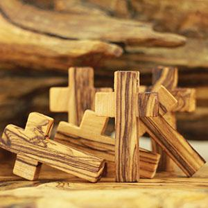 Holy Land Olive Wood Small Crosses